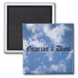Gracias a Dios - Above All (black) Refrigerator Magnets