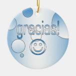 Gracias! Guatemala Flag Colours Pop Art Christmas Ornament