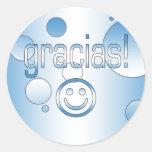 Gracias! Guatemala Flag Colours Pop Art Round Sticker