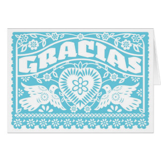 Gracias Lovebirds blank Thank You Card