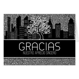 Gracias Spanish Business Thank You Blank Card