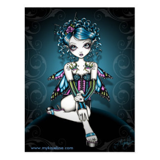 Gracie Gothic Couture Corset Fairy Postcard