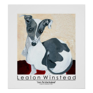 Gracie, The Italian Greyhound Poster