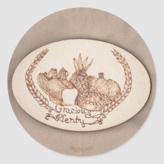 Gracious Plenty Harvest Home Mabon Classic Round Sticker