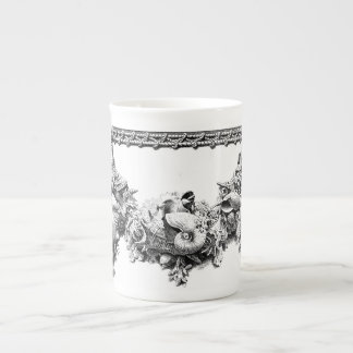 Gracious Serveware Baroque Sea Shell Swag Wreath Tea Cup