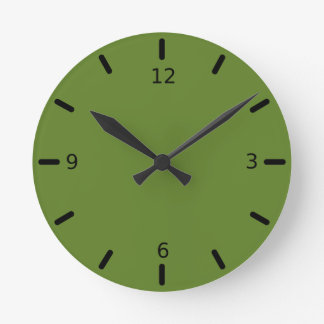 Graciously Social Green Color Round Clock
