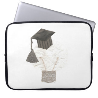 Grad Bulb No Background 15 Inch Laptop Sleeve