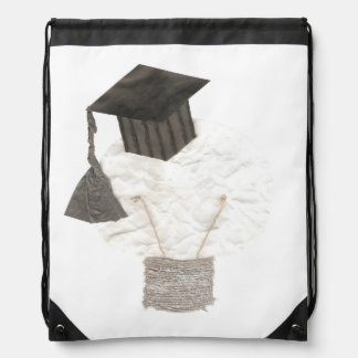 Grad Bulb No Background Drawstring Bag