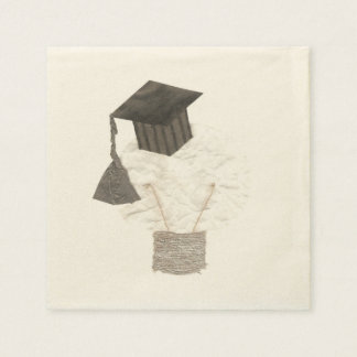 Grad Bulb No Background Ecru Napkins Paper Napkins