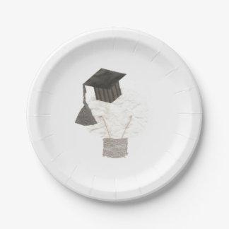 Grad Bulb Paper Plate