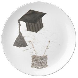 Grad Bulb Porcelain Plate