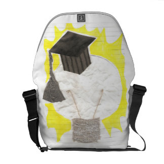 Grad Bulb With Background Rusksack Messenger Bag