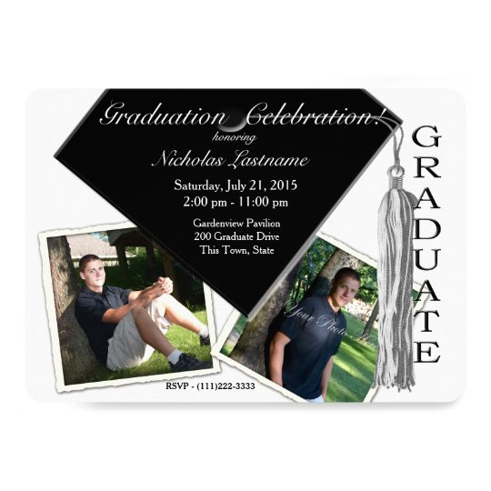 Grad Cap and Tassel with Photos Card
