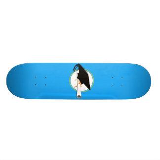 Grad Cap Tilt w/ School Colors Lt Blue And Gold Custom Skate Board