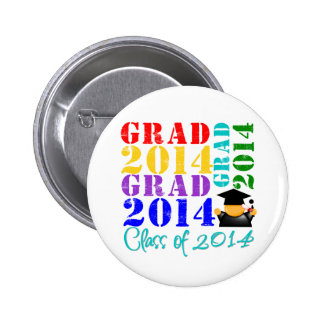 Grad  Class of 2014 2 Inch Round Button