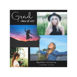 Grad Collage Stretched Canvas Print