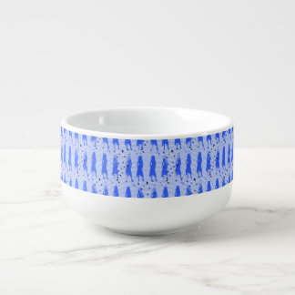 Grad Girls Blue Striped Swirl Soup Bowl With Handle