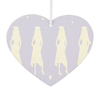 GRAD GIRLS IN LAVENDER AND WHITE CAR AIR FRESHENER