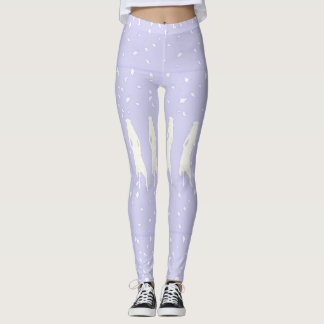 GRAD GIRLS IN LAVENDER AND WHITE LEGGINGS