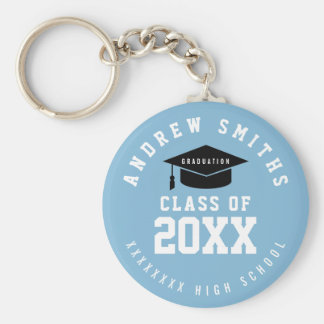 grad keychain with name and class year