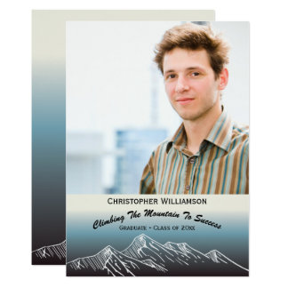 Grad Senior Photo Graduation Annoucement Success Card