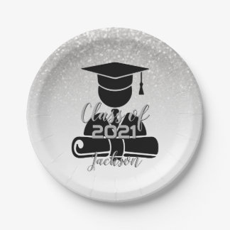 Grad Student - Class of 20XX Paper Plate