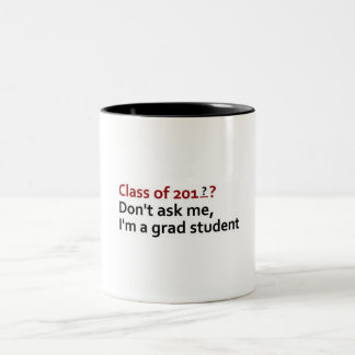 grad student Two-Tone coffee mug