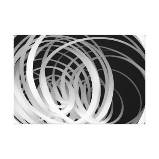 Gradation Loops - Canvas Print