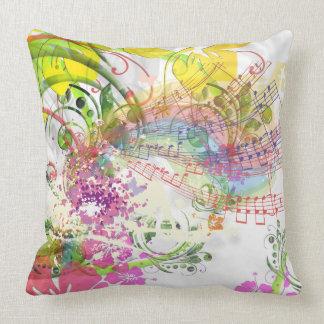 Grade A Cotton Throw Musical Flower Design Throw Pillow