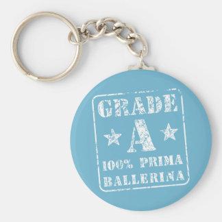 Grade A Prima Ballerina Basic Round Button Keychain