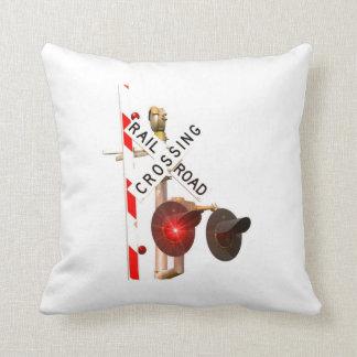 Grade Crossing Throw Pillow