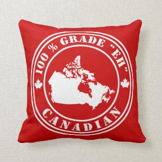 """Grade """"Eh"""" Canadian Throw Pillow"""