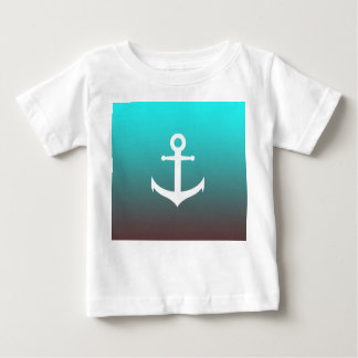Gradient aqua red | white anchor baby T-Shirt