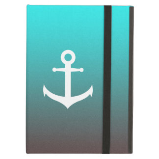 Gradient aqua red | white anchor case for iPad air
