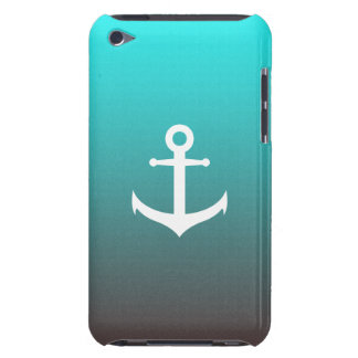Gradient aqua red   white anchor Case-Mate iPod touch case