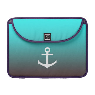Gradient aqua red | white anchor sleeve for MacBooks