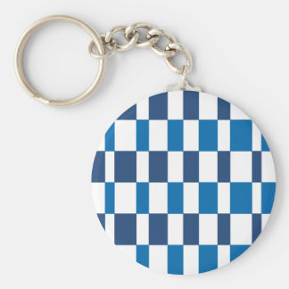 Gradient Blue Basic Round Button Keychain