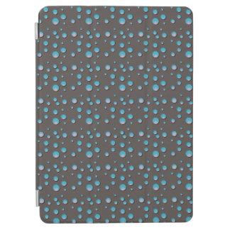 Gradient Blue Dots on Gray iPad Air Cover