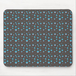 Gradient Blue Dots on Gray Mouse Pad