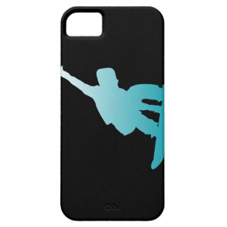 gradient blue snowboarder case for the iPhone 5