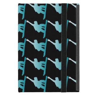 gradient blue snowboarder iPad mini case
