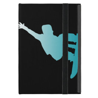 gradient blue snowboarder iPad mini cover