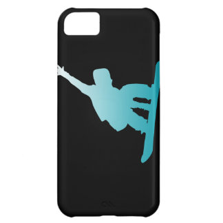 gradient blue snowboarder iPhone 5C cases