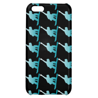 gradient blue snowboarder iPhone 5C cover