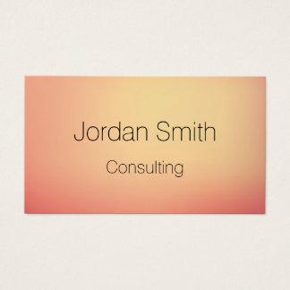 gradient color shift sun business card