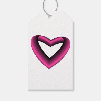 Gradient Colored Hearts Gift Tags