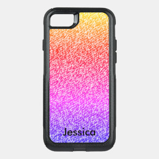 Gradient Colors Personalized Girly Name OtterBox Commuter iPhone 7 Case