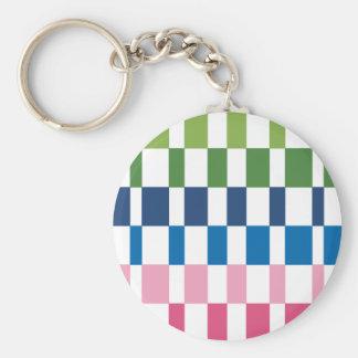 gradient colours basic round button keychain