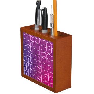 Gradient Cube Pattern on Desk Organizer