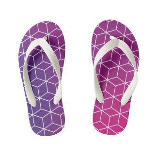 Gradient Cube Pattern on Kids Flip-Flop Kid's Flip Flops